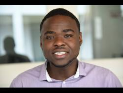 Rayvon Stewart, a student at the University of Technology, who created a device that is efficient in killing more than 99.9 per cent of deadly pathogens.