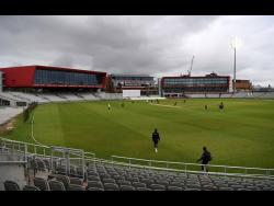 A general view of the field during day three of a West Indies warm- up match at Old Trafford in Manchester, England, last Wednesday.