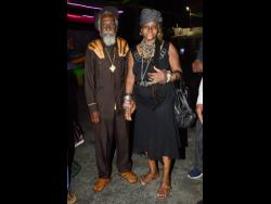 Bunny Wailer with his wife of over 50 years Jean Watt at the reggae legend's birthday celebration in 2019.