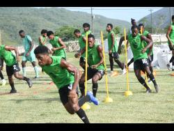 A Reggae Boyz training session at the UWI/JFF/Captain Horace Burrell Centre of Excellence on Tuesday, August 27, 2019.