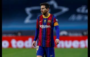Barcelona's Lionel Messi during the Spanish Supercopa final match between FC Barcelona and Athletic Bilbao at La Cartuja stadium in Seville, Spain, on Sunday, January 17.