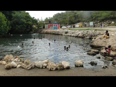The bathing pool at Salt River in Clarendon.