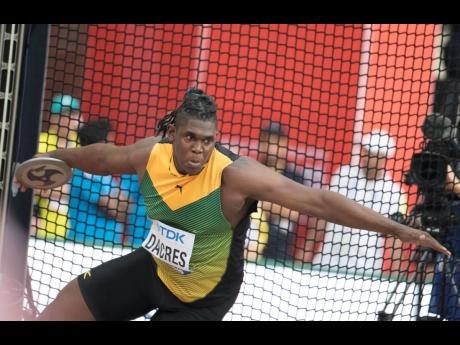 Fedrick Dacres competes in the discus throw qualifiers at the 2019 IAAF World Athletic Championships in Doha, Qatar, on Saturday September 28, 2019.
